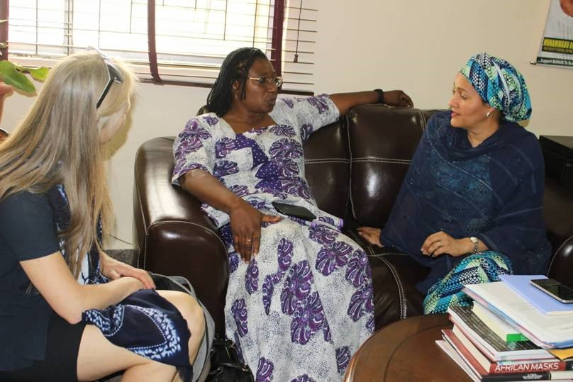 Meeting of WEP and WECF directors with the Minister of Environment of Nigeria